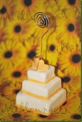 tortine segnaposto pasta di mais - mini wedding cake