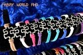 bracciale con puzzle con fili alcantara