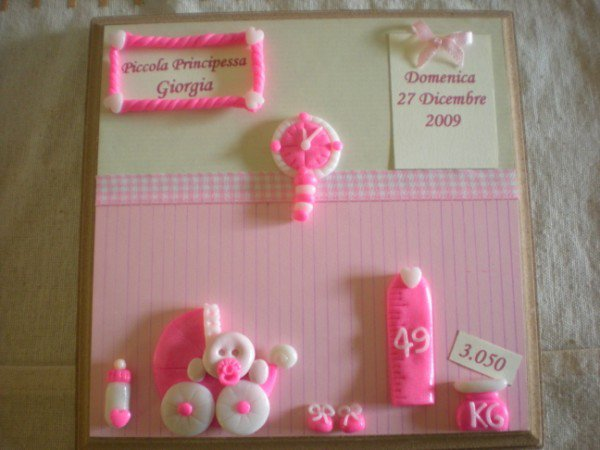 "QUADRETTO NASCITA PERSONALIZZABILE ""LITTLE GIRL"""