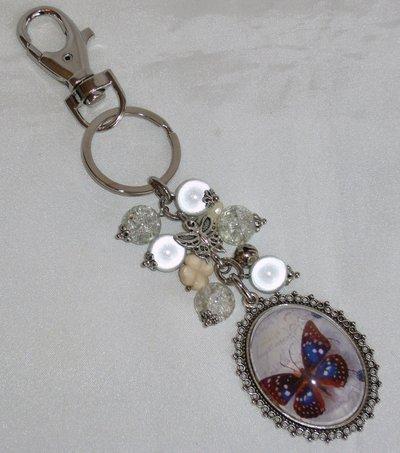 Portachiavi Allegra Farfalla, con charms