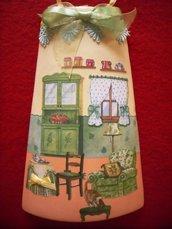 Tegola casa dolce casa. Idea regalo originale. Decorata a mano con tecnica Decoupage