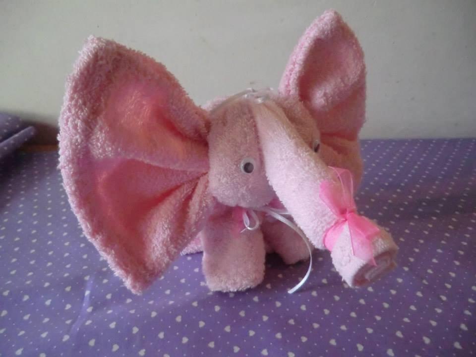 Elefante con asciugamani bambini nascita di il for Animali con asciugamani