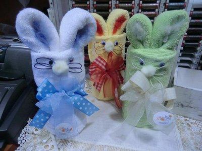 coniglio con asciugamani