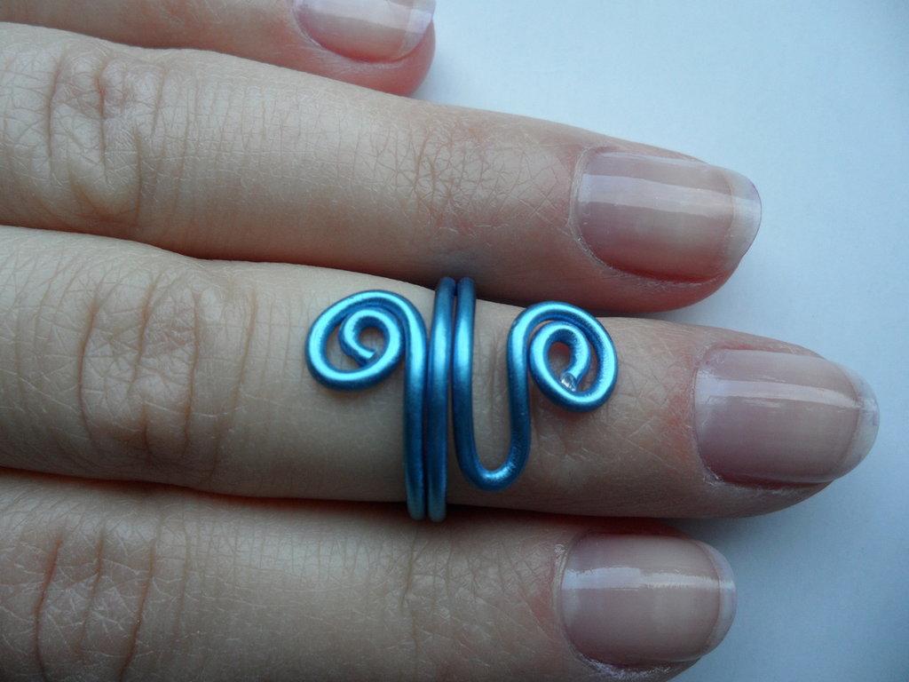 Anello a metà dito Blu