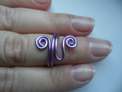 Anello a metà dito Viola