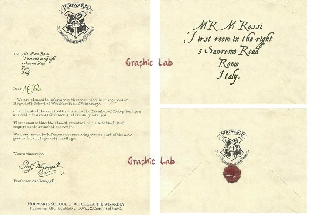 Lettera di Accesso alla Scuola di Magia e Stregoneria di Hogwarts Personalizzata Harry Potter