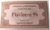 Biglietto Hogwarts Express Binario 9 e 3/4 Harry Potter Saga