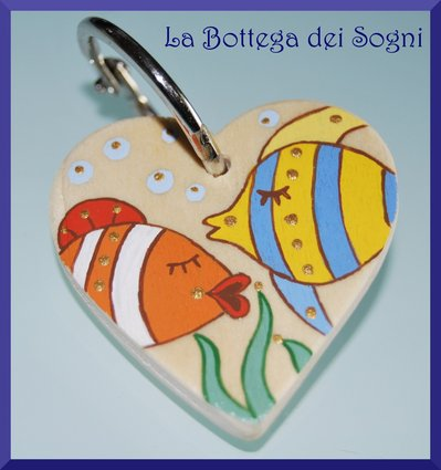 Porta chiave pesci