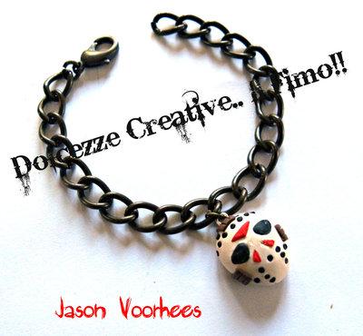 Bracciale Jason Voorhees Horror Venerdì 13 tributo.