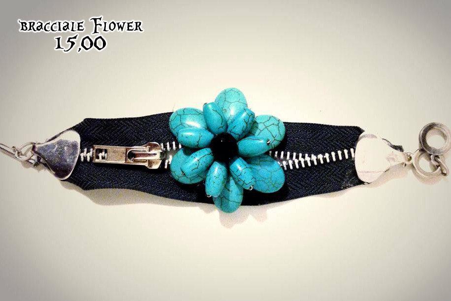 bracciale flower in cerniera