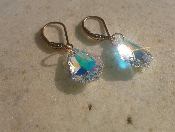 Orecchini Swarovski,Chiusura Clip,pendenti Swarovski,cristallo swarovski,orecchini oro,pendenti oro
