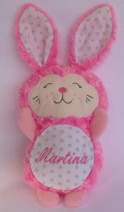 Coniglietto personalizzato - peluche pupazzo coniglio fucsia