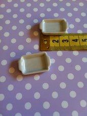 Miniatura vassoietto con manici in ceramica
