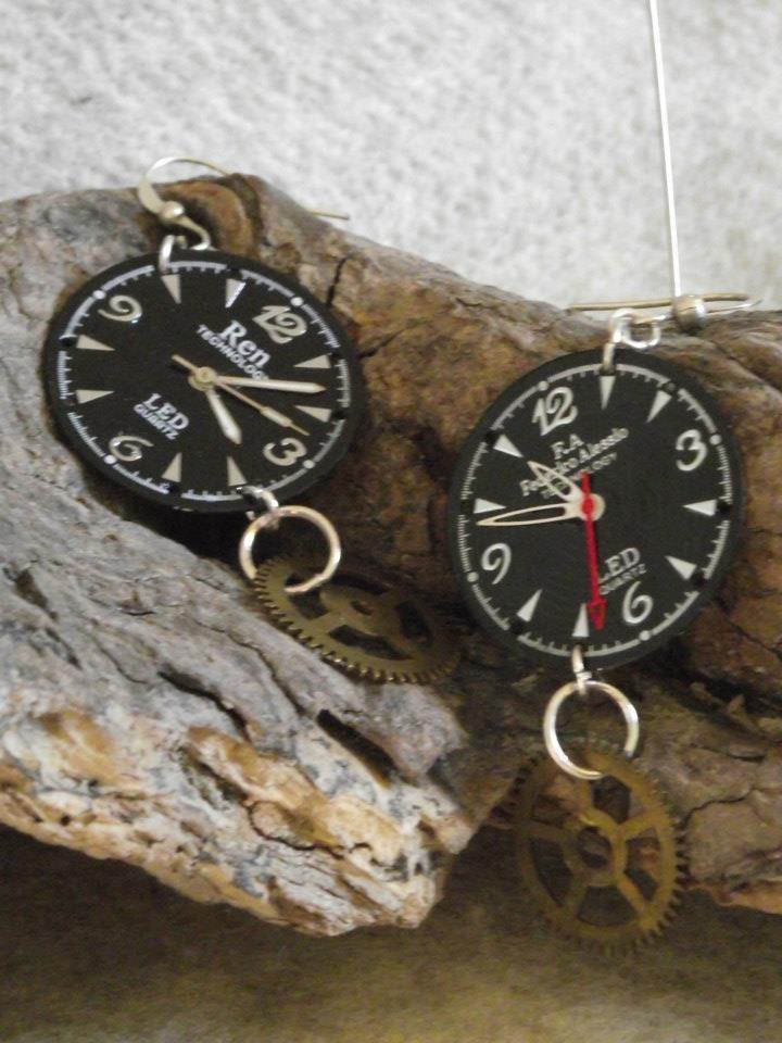 orecchini quadranti orologi
