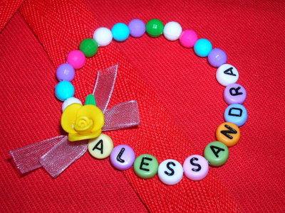 """Bracciale con nome """"ALESSANDRA"""""""