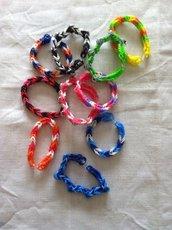 bracciali in elastico intrecciati multicolor