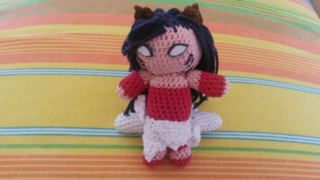 Schema uncinetto amigurumi Ahri League of Legend