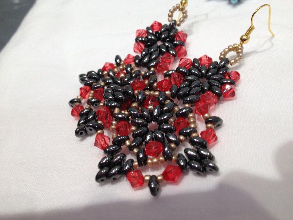 Orecchino Candy Red-Black