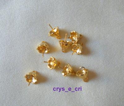 1 coppette ,copriperla,terminali colore oro [con chiodino] grandi 10 x 11 mm