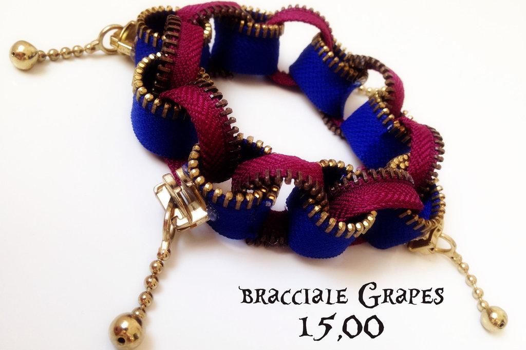 bracciale Grapes in cerniera