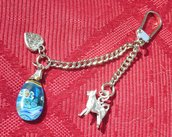 keyring withh dog breed border collie