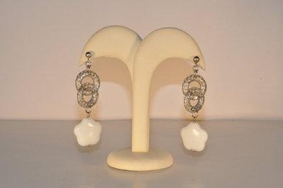orecchini con ricca filigrana in argento