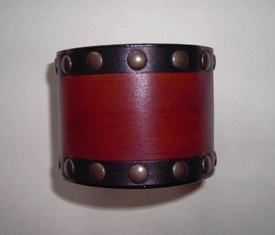 bracciale pelle cuoio urban style dark brown