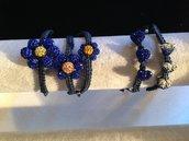 Set macramè colore blu elettrico