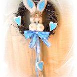 Coroncina fiocco azzurro Nascita Bambino