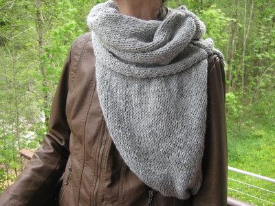 Collo / mantella lana grigio chiaro