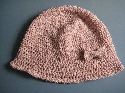 Cappellino rosa in cotone per bambina