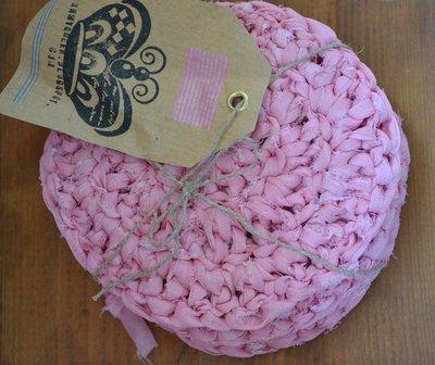 sottobicchieri crochet rosa - candy bar