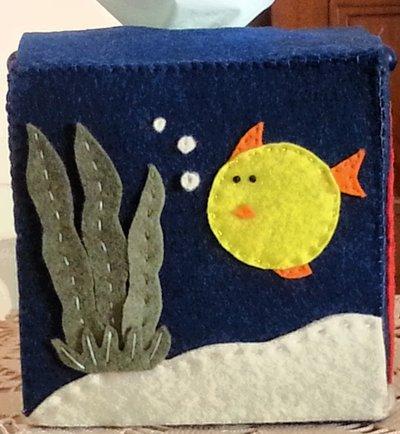 scatola in feltro Acquario porta fazzoletti di carta