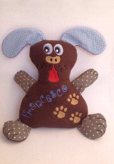 Cagnolino personalizzato - peluche pupazzo cane marrone