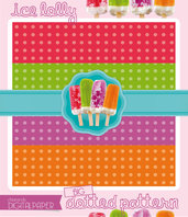DIGITALPAPER Ice lolly colors - big dotted