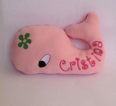 Balena personalizzata - peluche pupazzo rosa