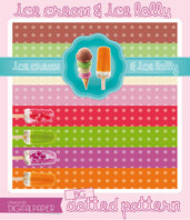 DIGITALPAPER Ice cream & lolly colors - big dotted