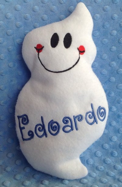 Fantasma personalizzato - peluche pupazzo bianco