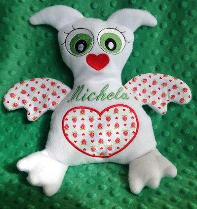 Civetta personalizzata - peluche pupazzo bianco