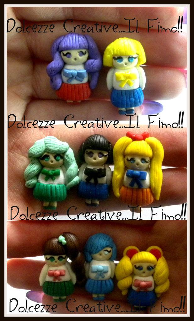 Orecchini: Sailor Moon, Sailor Mercury, Sailor Mars, Sailor Jupiter, Sailor Venus, Sailor Uranus, Sailor Neptum, Sailor Saturn
