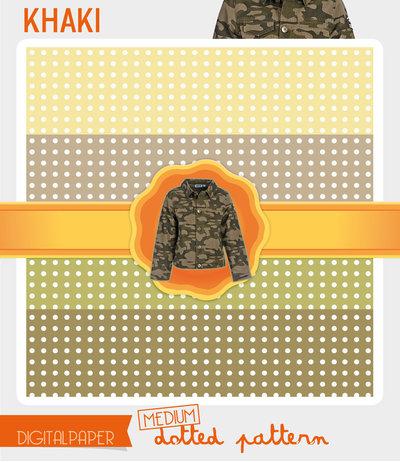 Digital Paper A4 Khaki – medium dotted
