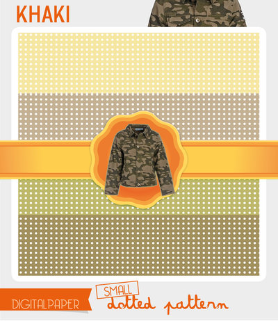 Digital Paper A4 Khaki – small dotted
