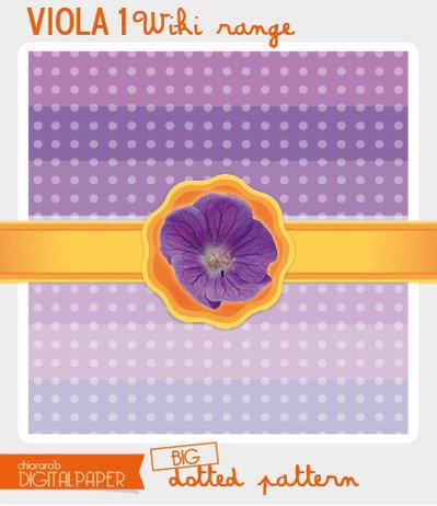 Digital Paper A4 VIOLA1 wiki range – big dotted