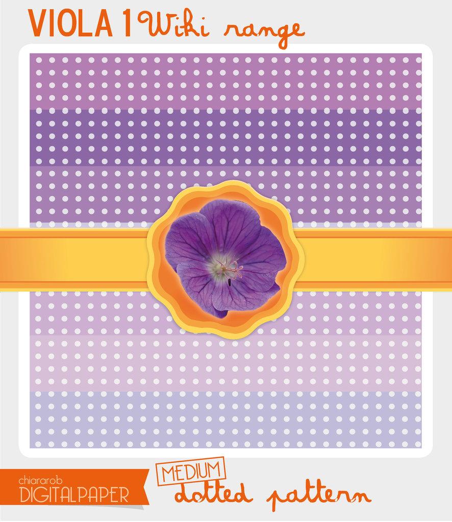 Digital Paper A4 VIOLA1 wiki range – medium dotted