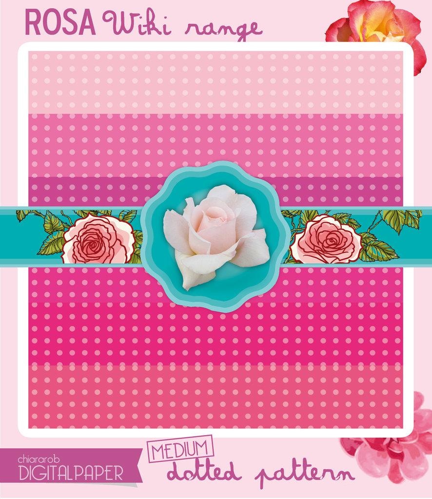 Digital Paper A4 ROSA1 wiki range – medium dotted
