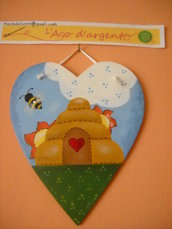 CUORE IN LEGNO COUNTRY PAINTING