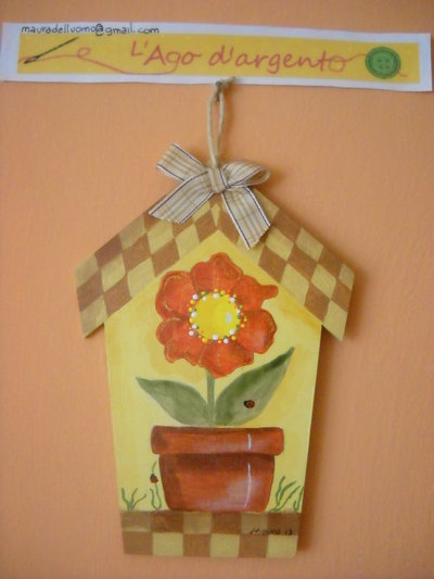 "CASETTA  IN LEGNO COUNTRY PAINTING ""FIORE"""