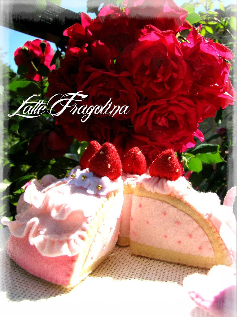 """Torta di fragole Mousse """" intera"""" vol,1"""