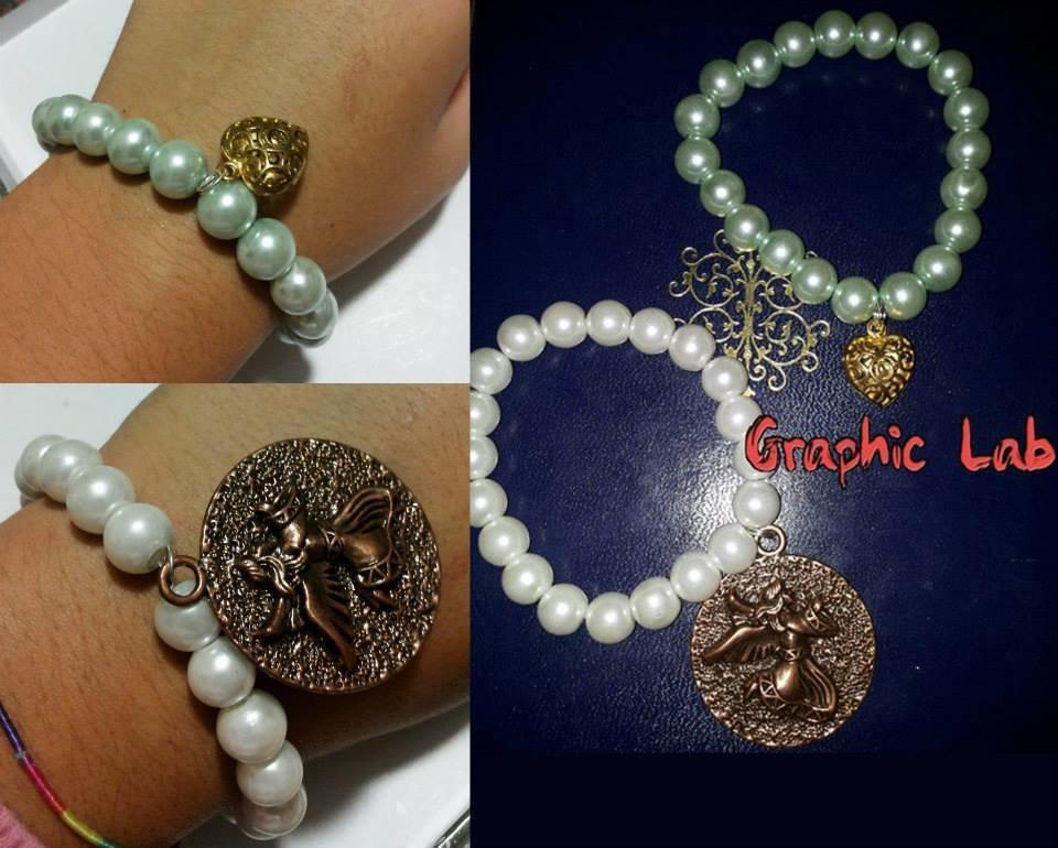 Braccialetto personalizzato di perle con ciondolo