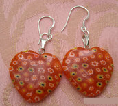 murrine earrings